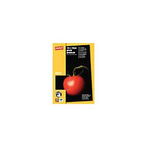 Staples Photo Premium Papel Fotográfico para Impresoras de Inyección de Tinta Blanco Brillante 100 x 150 mm 270 g/m²