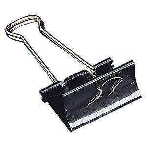Staples Pinzas Clip, 25 mm, negro y plateado