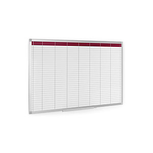 Staples Planning semanal de pared, Superficie magnética, Acero lacado, Aluminio, Cuadrícula, 90 x 60 cm