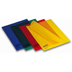 Staples Pochettes coin A4 polypropylène 12/100 - couleur vert - Boîte de 100