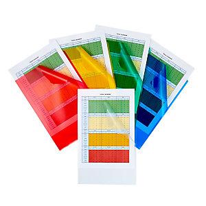 Staples Pochettes coin A4 polypropylène 14/100 - couleurs assorties - Boîte de 25
