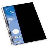 Staples Poly Cuaderno, A4, cuadriculado, 80 hojas, cubierta polipropileno, negro