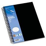 Staples Poly Cuaderno, A5, cuadriculado, 80 hojas, cubierta polipropileno, negro