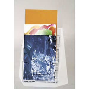 Staples Portafolletos de sobremesa de 4 compartimentos A5
