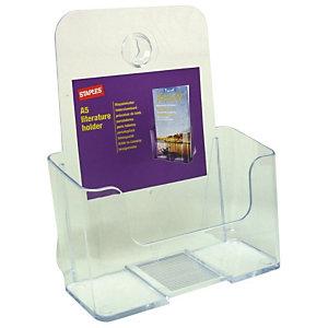 Staples Portafolletos de sobremesa A5 de 1 compartimento