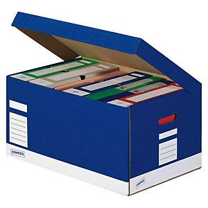Staples Premium Cajón de cartón apilable azul A4