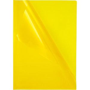 Staples Premium, Dossier uñero, A4, PVC rugoso, 145 micras, amarillo transparente