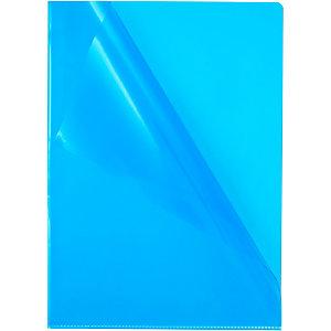 Staples Premium, Dossier uñero, A4, PVC rugoso, 145 micras, azul transparente