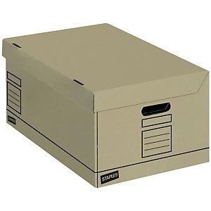 Staples Premium Eco-Kraft Cajón de cartón apilable A4