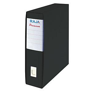 Staples Premium Registratore archivio, Formato Commerciale, Dorso 8 cm, Cartone plastificato, Nero