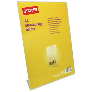 Staples Présentoir de comptoir incliné  - Format A4