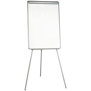 Staples Professional Caballete móvil, Superficie magnética, Acero lacado, Aluminio, 70 x 92 cm, Plata