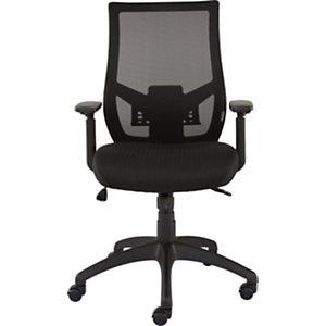 Staples Raft Silla de oficina, malla y tela, altura 107,5-117 cm, negro