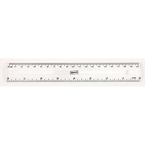 Staples Regla, 20cm/8pulgadas, transparente