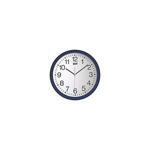 Staples Reloj analógico de pared azul