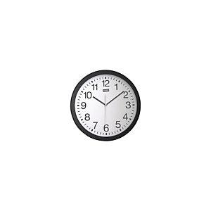 Staples Reloj analógico de pared negro