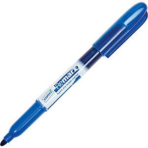 Staples Remarx, Marcatore per lavagna a inchiostro liquido, Cancellabile a secco, Punta tonda, 1-3 mm, Blu