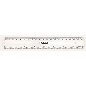 Staples Righello, 30 cm/12 pollici, Trasparente