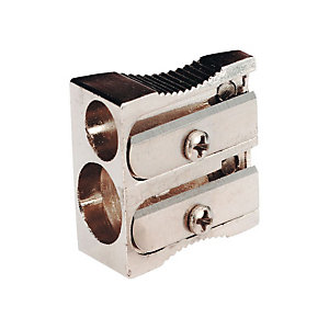 Staples Sacapuntas en cuña, doble orificio, aluminio, 116 x 47 x 14 mm, Paquete de 10