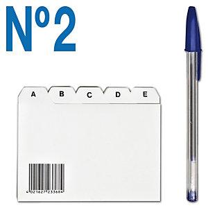 Staples Separador para fichas A-Z Nº 2 (105 x 74 mm)