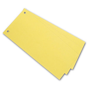Staples Separadores, 240 x 105 mm, cartón, 100 pestañas, amarillo
