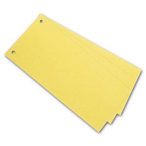 Staples Separadores, 240 x 105 mm, cartón, 100 pestañas, amarillo