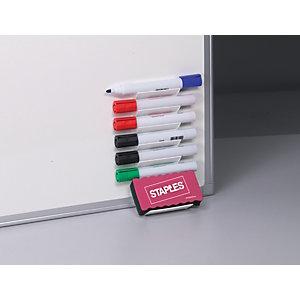 Staples Soporte portarrotuladores con 6 rotuladores y borrador de limpieza en seco