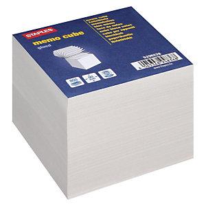 Staples Soporte transparente + taco de notas sueltas 90 x 90 mm blanco