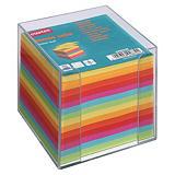 Staples Soporte transparente + taco de notas sueltas 90 x 90 mm surtido