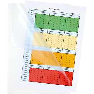 Staples Standard Plus, Dossier uñero, A4, polipropileno rugoso, 90 micras, transparente