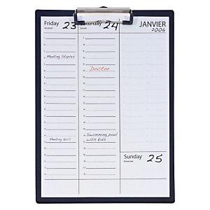 Staples Tabla de pinza portapapeles, A4, cartón rígido forrado en PVC, negro