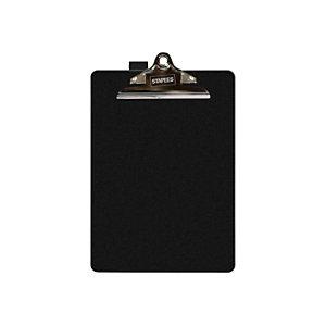 Staples Tabla de pinza portapapeles, A4, soporte para bolígrafo, polipropileno, negro