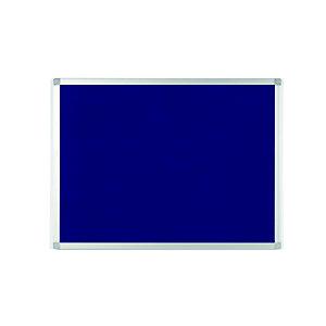 Staples Tablón de fieltro, marco de aluminio, 900 x 600 mm, azul
