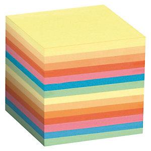 Staples Taco de notas encoladas al lomo 90 x 90 mm surtido