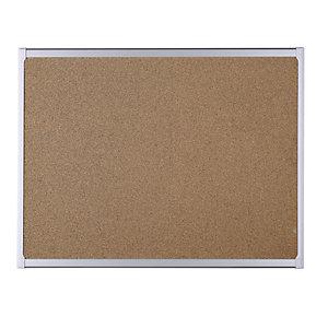 Staples Techcork® Tablón de corcho compuesto de goma, marco de aluminio, 900 x 600 mm, marrón