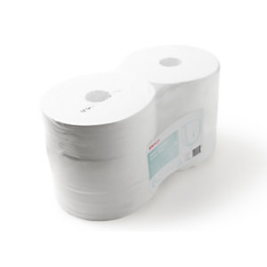 Staples Ultra Soft Jumbo Rollo de papel higiénico, 2 capas, 1114 hojas, 90mm, blanco
