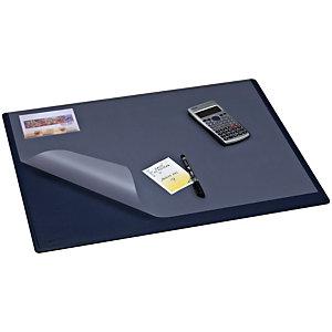 Staples Vade de escritorio con cubierta, plástico, 630 x 500 mm, azul
