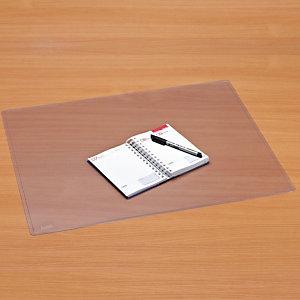 Staples Vade de escritorio, plástico, 630 x 500 mm, transparente