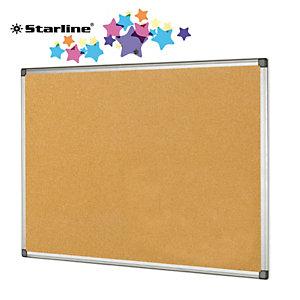 STARLINE Lavagna sughero - 90x120 cm - cornice in alluminio - Starline