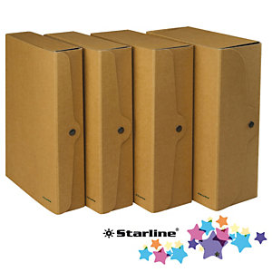 STARLINE Scatola progetto - dorso 6 cm - 25x35 cm - cartone FSC - avana - Starline