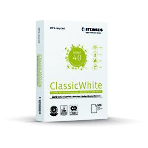 Steinbeis Vision ClassicWhite Papel Multifunción para Faxes, Fotocopiadoras, Impresoras láser e impresoras de inyección de tinta, Reciclado, Blanco, A4 80 g/m²