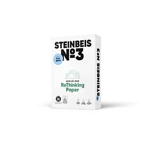 Steinbeis Vision Pure White Papel Multifunción para Faxes, Fotocopiadoras, Impresoras Láser e Impresoras de Inyección de Tinta, Reciclado, Blanco, A4 80 g/m²