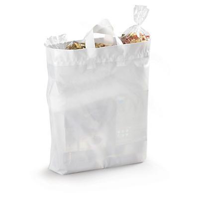 Sterke, hvite plastposer