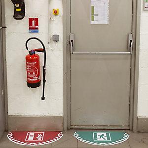 Sticker de signalisation au sol Take Care by CEP lutte incendie extincteur 700 x 350 mm