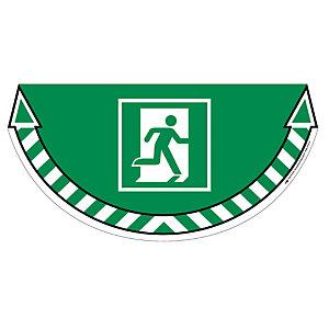Sticker de signalisation au sol Take Care by CEP Sortie de secours 700 x 350 mm