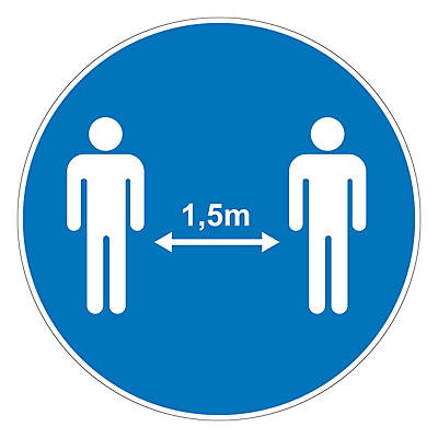 Autocollants pour distanciation sociale et hygiène des mains##Stickers voor social distancing en handhygiëne