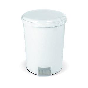 Stil Casa Pattumiera a pedale, 20 litri, Bianco