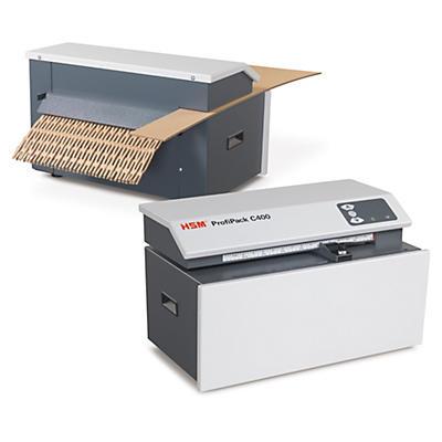 Stolní stroj na výplňový materiál z krabic HSM