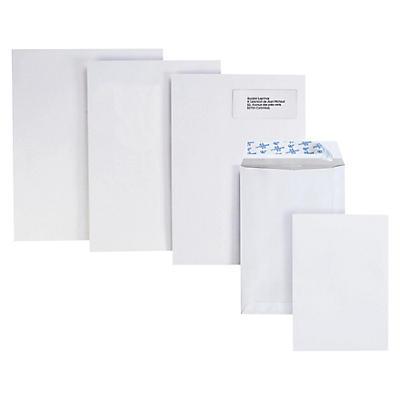 Stor kuvert i velinpapir - Hvid
