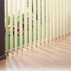 Store à bandes verticales sur mesure - Lames larg. 127 mm -  Tissu polyester occultant - Coloris beige
